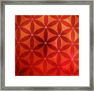 Flower Of Life  Framed Print by Serena King
