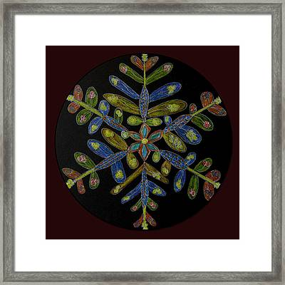 Framed Print featuring the drawing Flower Of Many Colors by Patricia Januszkiewicz