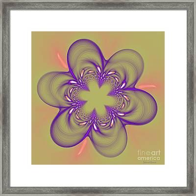 Flower Of Pink - Purple Framed Print by Deborah Benoit