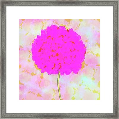 Flower On Pink Framed Print