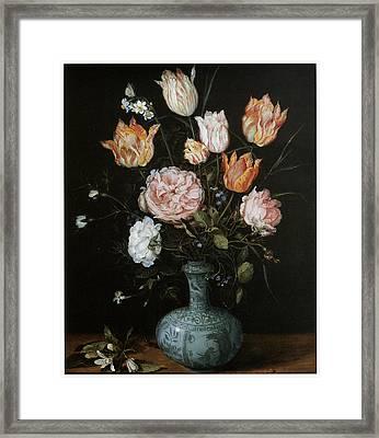Flower Piece Framed Print by Jan Brueghel The Elder