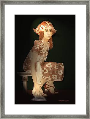 Framed Print featuring the digital art Flower Pirate by Kerry Beverly