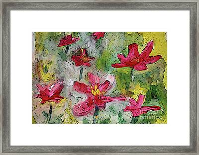 Framed Print featuring the painting Flower Play by Terri Thompson