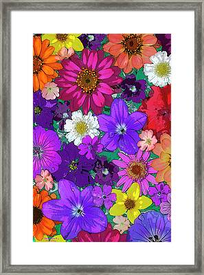 Flower Pond Vertical Framed Print