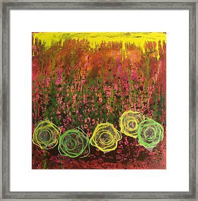 Flower Pops Framed Print