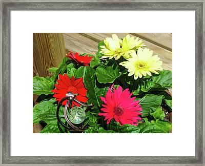 Flower Porch Framed Print