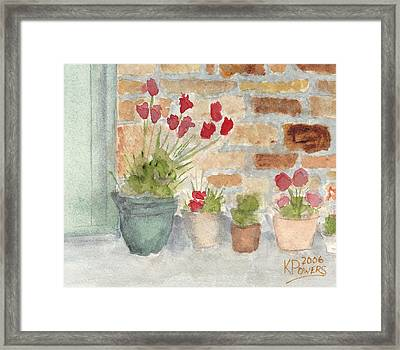 Flower Pots Framed Print by Ken Powers