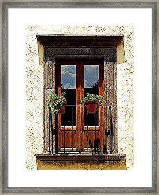 Flower Pots Framed Print by Mexicolors Art Photography