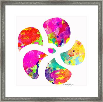 Flower Power 1 - Digital Paint Framed Print by Debbie Portwood
