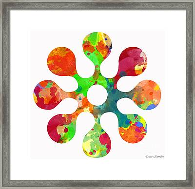 Flower Power 3 - Digital Paint Framed Print by Debbie Portwood