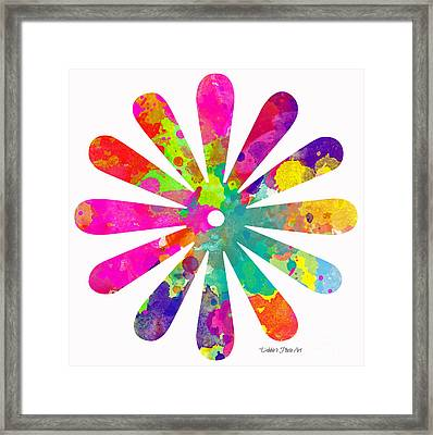 Flower Power 4 - Digital Art Framed Print by Debbie Portwood