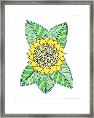 Flower Power 6 Framed Print