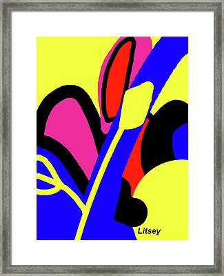 Flower Power Framed Print by International Artist Brent Litsey