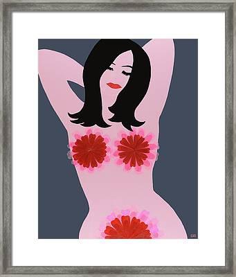 Flower Power - Pink Framed Print