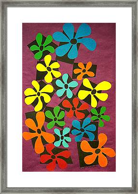 Flower Power Framed Print by Teddy Campagna