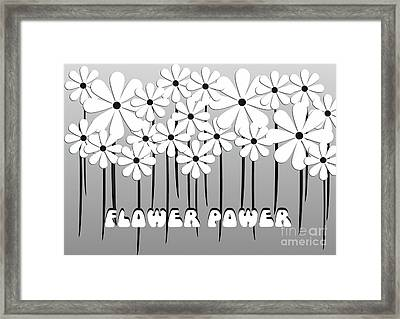 Flower Power - White  Framed Print
