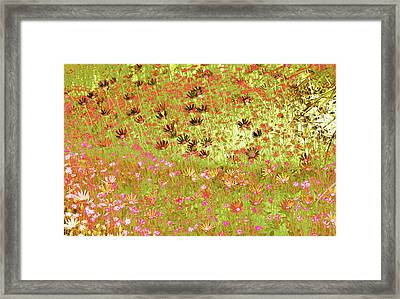 Framed Print featuring the digital art Flower Praise by Linde Townsend