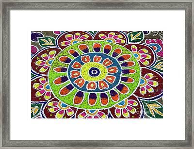 Flower Rangoli Framed Print