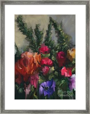 Flower Run Framed Print by Carrie Joy Byrnes