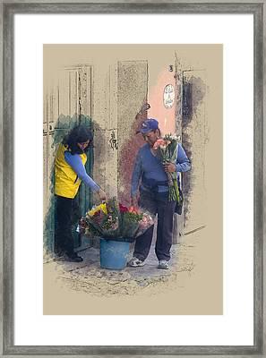 Flower Sale Framed Print by Richard Baker