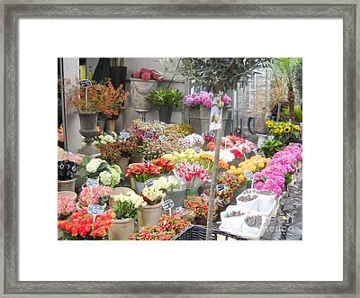 Flower Shop Amsterdam Framed Print by Reina Resto