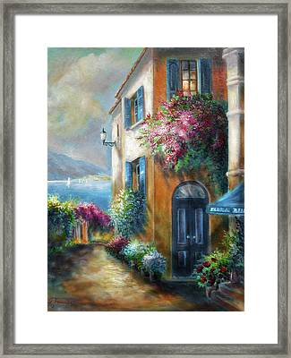Flower Shop By The Sea Framed Print
