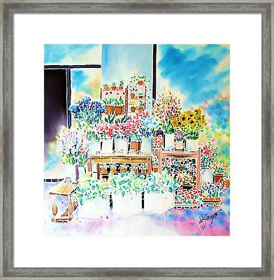 Flower Shop In Paris Framed Print