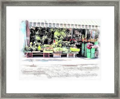 Flower Shop Treasures Framed Print