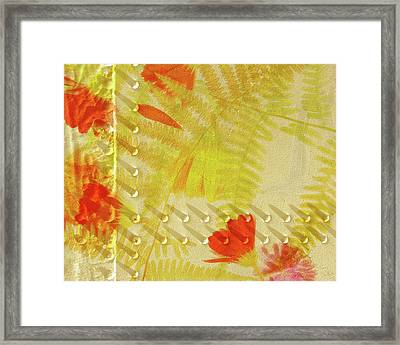 Flower Shower II Framed Print by Bonnie Bruno