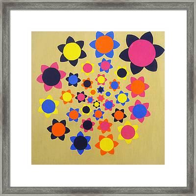 Flower Shower Framed Print by Oliver Johnston