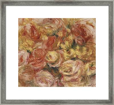 Flower Sketch Framed Print