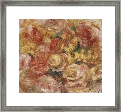 Flower Sketch Framed Print by Pierre Auguste Renoir
