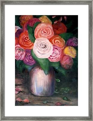 Flower Spirals Framed Print