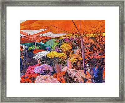 Flower Stand Framed Print