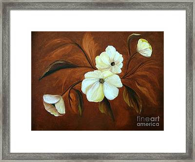 Flower Study Framed Print by Carol Sweetwood