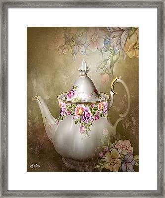 Flower Tea Pot Framed Print