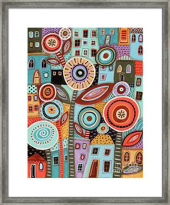 Flower Town1 Framed Print by Karla Gerard