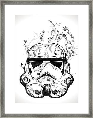 Flower Trooper Framed Print