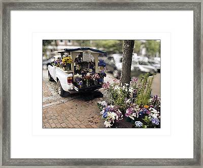 Flower Truck On Nantucket Framed Print by Tammy Wetzel