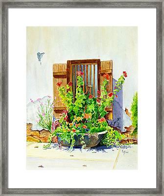 Flower Tub Framed Print by Karen Fleschler
