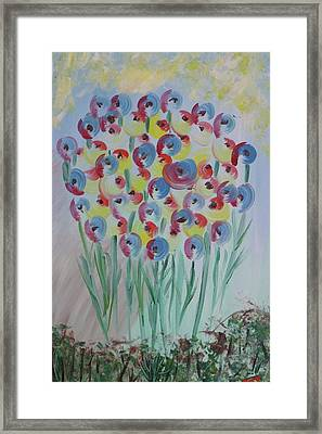 Flower Twists Framed Print by Barbara Yearty