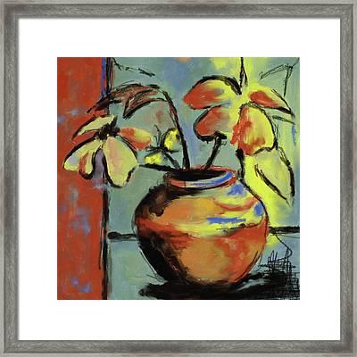 Flower Vase 407 I Framed Print by Mawra Tahreem