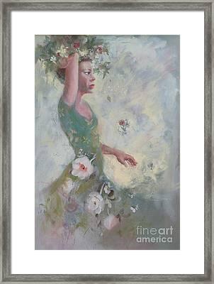 Flower Vender Framed Print by Gertrude Palmer