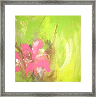 Flower Framed Print by Vivien Ferrari