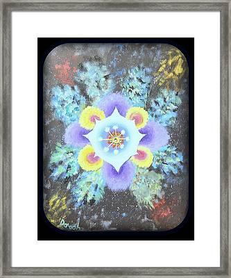 Floral Vortex Framed Print