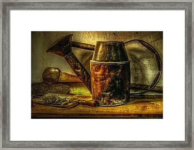 Flower Water Pot Framed Print