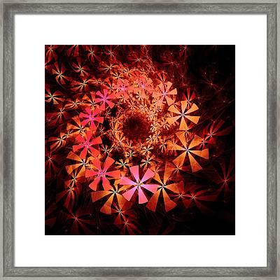 Flower Whirlpool Framed Print by Anastasiya Malakhova