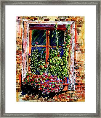 Flower Window Framed Print
