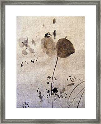 Flower With Leaf Framed Print by Nancy Kane Chapman