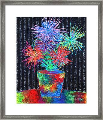 Flower-works Plant Framed Print by Jeremy Aiyadurai